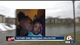 Father dies rescuing daughter after car plunges into frigid pond - Video
