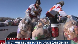 Indy Fuel delivers toys from