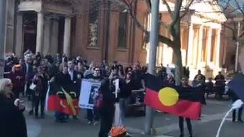 Angry Protesters Call For 'Justice For Elijah' at Sydney Supreme Court