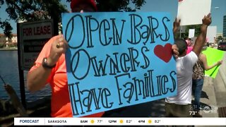 Tampa and Clearwater bar owners protesting to reopen their businesses