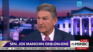 Senator Joe Manchin: 'Wouldn't Be Wise' For Hillary Clinton To Campaign In WV