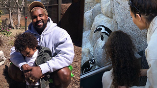 Kim Kardashian MAKES Kanye West SMILE  At The Zoo and Our Hearts Are MELTING! - Video