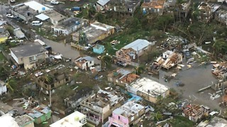 Helicopter Footage Shows Flooded Puerto Rico Neighbourhoods - Video
