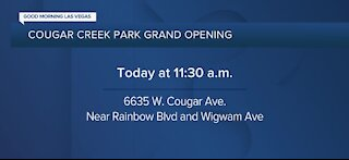Cougar Creek Park Grand Opening today