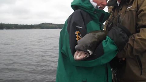 Huge Fish Escapes From Woman's Hands