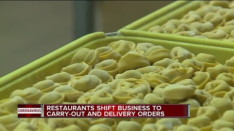 Restaurants shift business to carry-out and delivery options