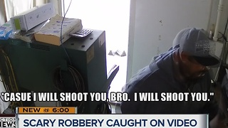 Robbery of smog business caught on camera - Video
