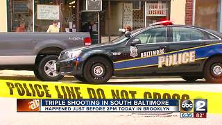 Triple Shooting in South Baltimore - Video
