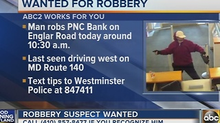 Police search for Westminster PNC Bank robber - Video