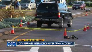 City improves intersection after tragic accident - Video