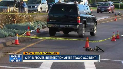 City improves intersection after tragic accident