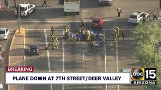 Plane crashes near 7th Street and Deer Valley