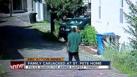 Family carjacked in front of St. Pete home