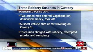 Bakersfield Police arrest three men for robbery, attempted murder - Video
