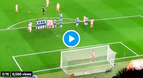 Messi's free-kick goal against Espanyol from the stands.