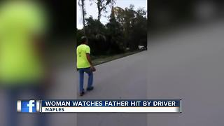Woman Watches Father Hit By Driver - Video