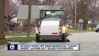 Detroit kicks off neighborhood 'clean sweep,' laying out rules for drivers - Video