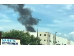Fire Breaks Out at Walmart Distribution Center in Pennsylvania - Video