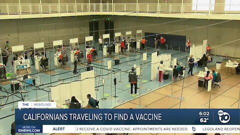 Californians traveling to find a COVID-19 vaccine with expanded eligibility