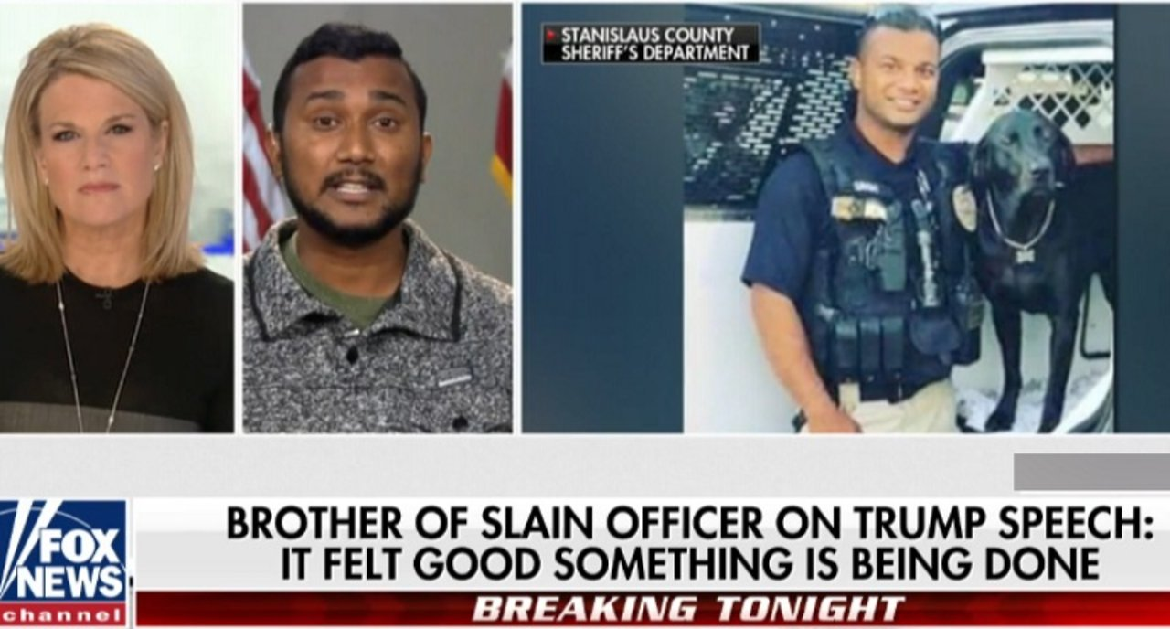 Michael Berry - Brother of Murdered Cop Reggie Singh Wants Trump To Build Border Wall