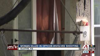 Woman shot, killed by officer in Olathe - Video