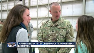 Milwaukee's 128th Air Refueling Wing loves the Brewers even from overseas - Video