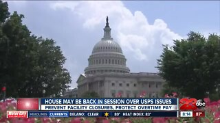 A potential return to Washington over U.S. Postal Service issues
