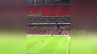England Fan Scores At Wembley 'From 300 Yards' With A Paper Airplane - Video
