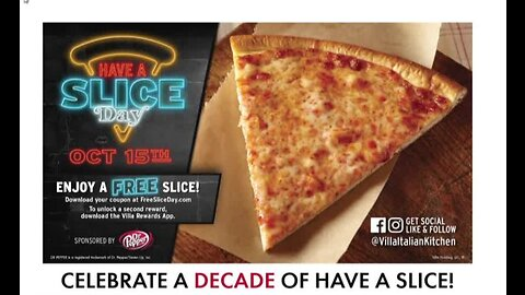 Free cheese pizza slices today