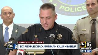 After killing six people across the Valley, gunman kills himself - Video