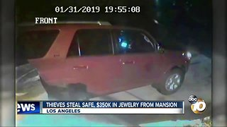 Thieves steal safe, $350K in jewelry from mansion