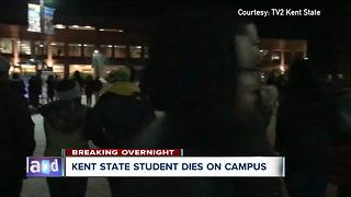 Kent State University student dies after collapsing on campus - Video