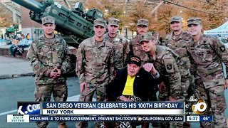 San Diego military veteran celebrates 100th birthday