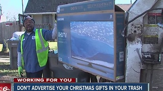 Don't advertise your Christmas gifts in your trash - Video