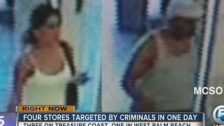 Four stores targeted by criminals - Video