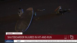 Skateboarder injured in a hot-and-run