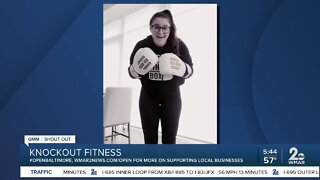 Knockout Fitness holding outdoor workout classes