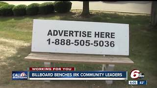 Illegal bench billboards irk community leaders - Video