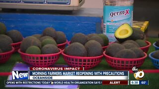 Oceanside Farmers Market reopening with precautions