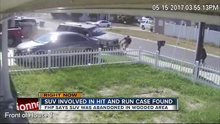 SUV involved in hit-and-run case found - Video