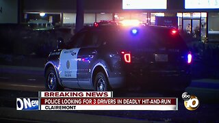 Police looking for 3 drivers in deadly hit-and-run