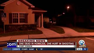 1 dead in Fort Pierce homicide, 1 injured in nearby shooting - Video