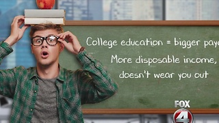 College degree holders live longer - Video