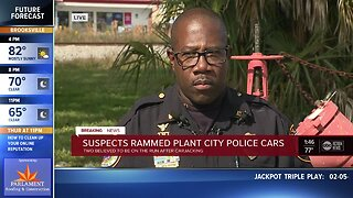 Suspects rammed Plant City police cars