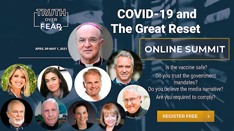 """Contribution to the upcoming summit """"Truth Over Fear: Covid-19, the Vaccine, and the Great Reset"""""""