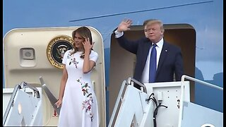 President Trump arrives for fundraiser at Mar-a-Lago