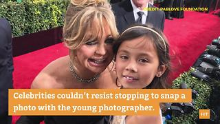 8-year-old cancer fighter steals the show at the Golden Globes - Video