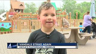 Vandals damage Kayla's Playground in Franklin yet again - Video