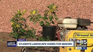 Tempe students landscape homes for seniors - Video