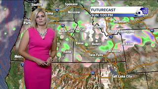 Saturday looking sunny and breezy, showers possible late Sunday - Video